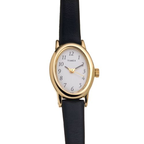 Timex Cavatina Gold Tone Leather Watch - T2M566KZ - Women