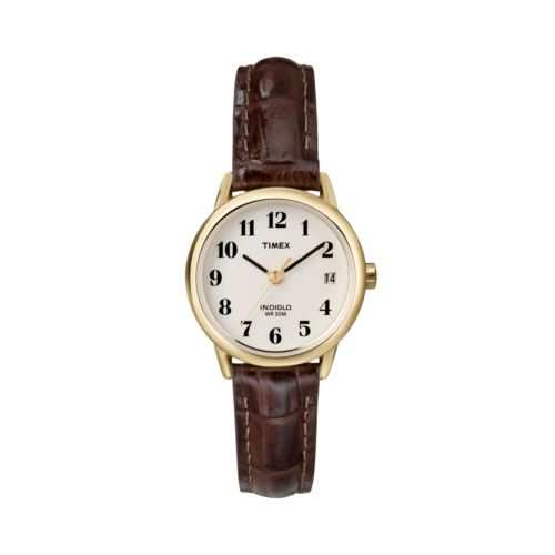 Timex Indiglo Leather-Strap Watch - Women