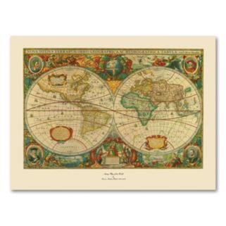 Old World Map Painting Canvas Wall Art
