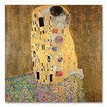 """The Kiss 1907-8"" 24"" Canvas Wall Art by Gustav Klimt"