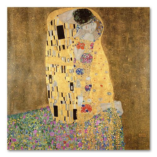 """The Kiss 1907-8"" 24"" Canvas Wall Art by Gustav Klimt"