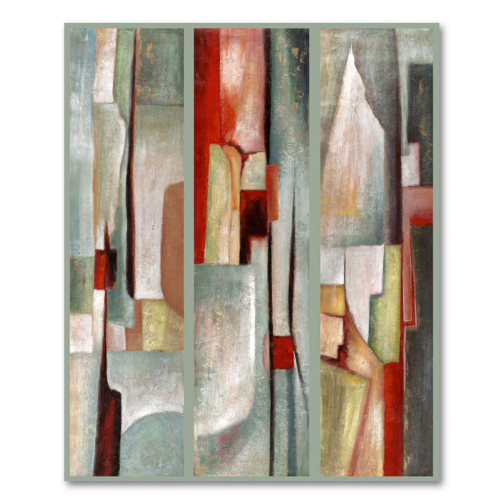 """Abstract Triptych"" Canvas Wall Art by Joval"