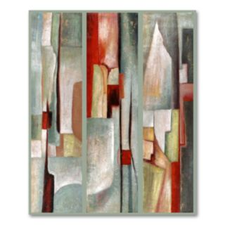 Abstract Triptych Canvas Wall Art by Joval