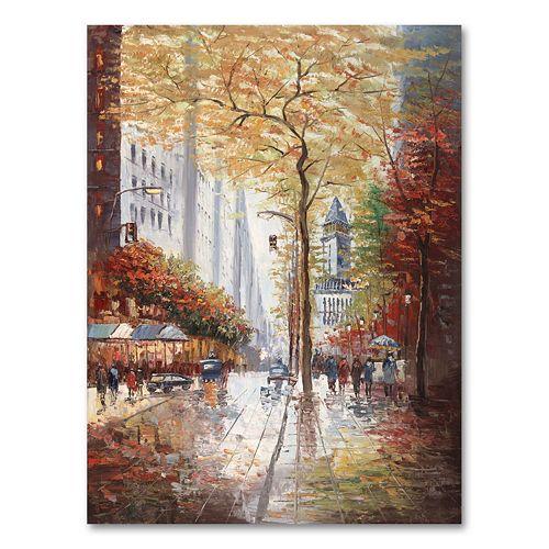 """""""French Street Scene II"""" Canvas Wall Art by Joval"""