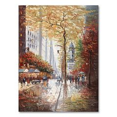 'French Street Scene II' Canvas Wall Art by Joval