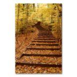"""Fall Stairway"" 24"" x 18"" Canvas Wall Art by Kurt Shaffer"