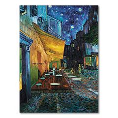 'Cafe Terrace' 19' x 14' Canvas Wall Art by Vincent van Gogh