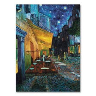Cafe Terrace 24 x 18 Canvas Wall Art by Vincent van Gogh