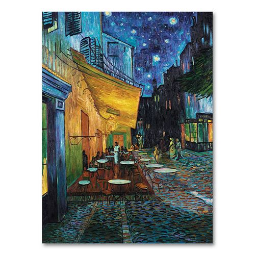 """Cafe Terrace"" 24"" x 18"" Canvas Wall Art by Vincent van Gogh"