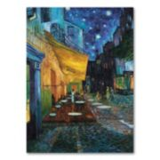 """Cafe Terrace"" 32"" x 24"" Canvas Wall Art by Vincent van Gogh"