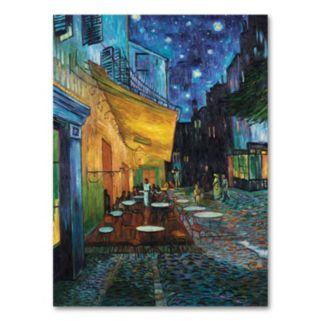 Cafe Terrace 32 x 24 Canvas Wall Art by Vincent van Gogh