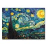 """Starry Night"" 14"" x 19"" Canvas Wall Art by Vincent van Gogh"