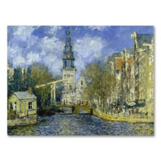 The Zuiderkerk at Amsterdam 24 x 32 Canvas Wall Art by Claude Monet