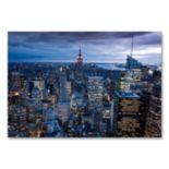 """""""New York City, NY"""" 30"""" x 47"""" Canvas Wall Art by Yakov Agami"""