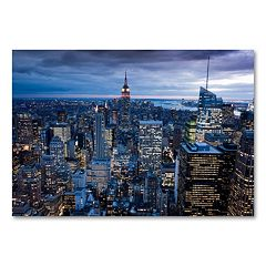'New York City, NY' 30' x 47' Canvas Wall Art by Yakov Agami