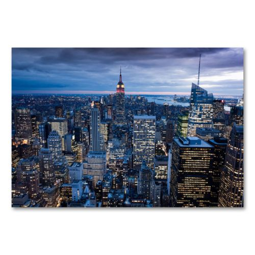 New York City, NY 30 x 47 Canvas Wall Art by Yakov Agami