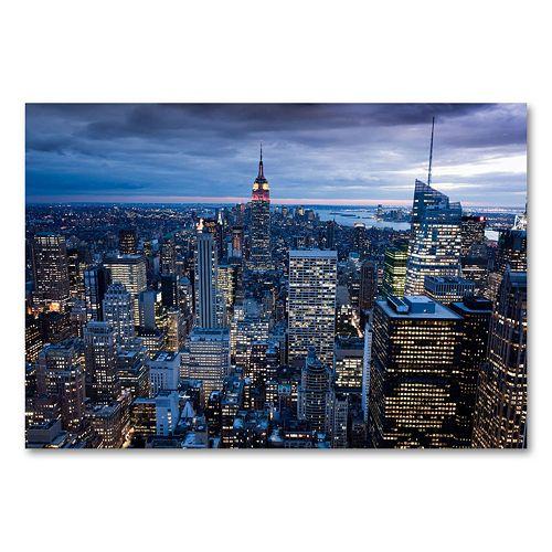 New York City, NY 30 x 47 Canvas Wall Art by Yakov Agami