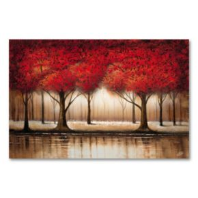Parade of Red Trees 16 x 24 Canvas Wall Art by Rio
