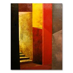 ''Mystery Stairway'' Medium Canvas Wall Art by Michelle Calkins