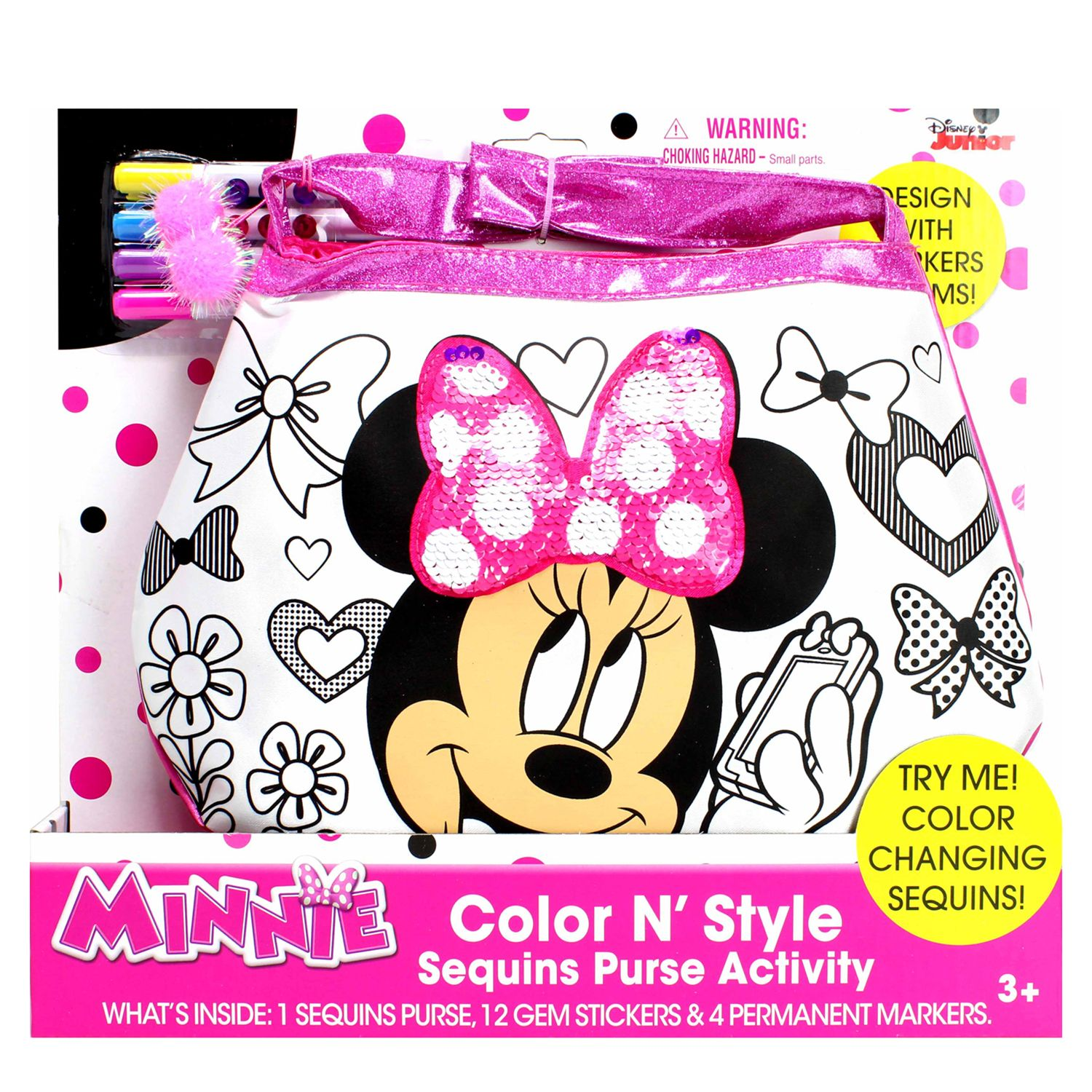 - Disney Mickey Mouse & Friends Minnie Mouse Color N' Style Fashion Purse  Activity Set