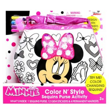 Disney Mickey Mouse and Friends Minnie Mouse Color N' Style Fashion Purse Activity Set