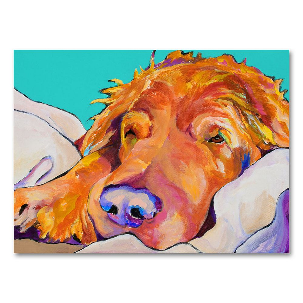 ''Snoozer King'' Canvas Wall Art by Pat Saunders-White