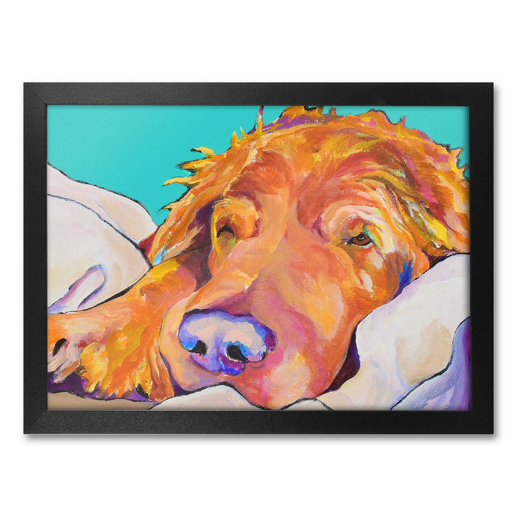 ''Snoozer King'' Framed Canvas Wall Art by Pat Saunders-White