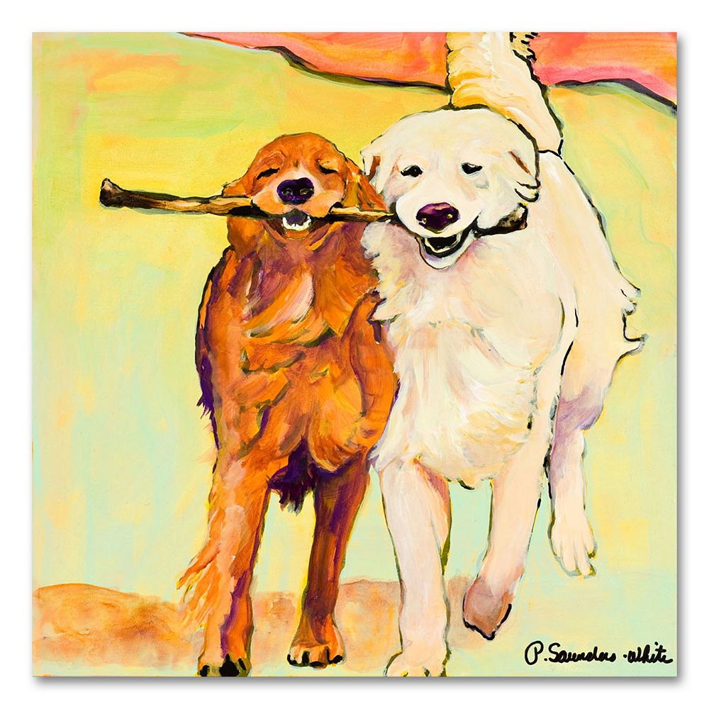 """''Stick with Me'' 24"""" x 24"""" Canvas Wall Art by Pat Saunders-White"""