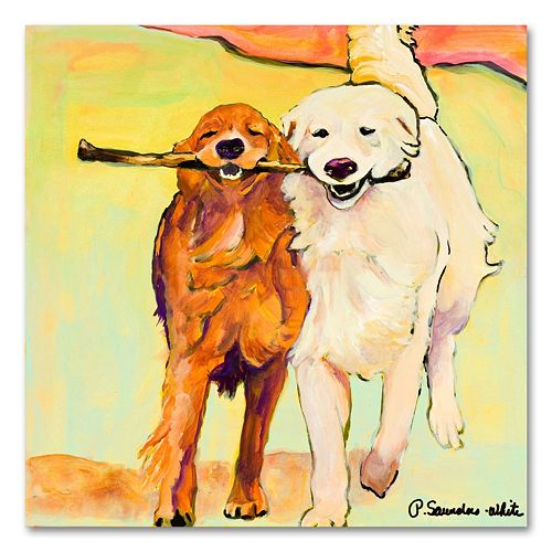 "''Stick with Me'' 24"" x 24"" Canvas Wall Art by Pat Saunders-White"