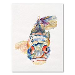 ''Blue Fish'' Canvas Wall Art by Pat Saunders-White
