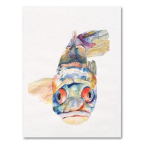 Blue Fish Canvas Wall Art by Pat Saunders-White