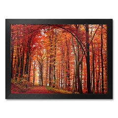 'The Red Way' Framed Canvas Wall Art by Philippe Sainte-Laudy