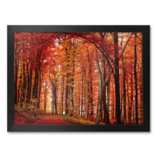 The Red Way Framed Canvas Wall Art by Philippe Sainte-Laudy