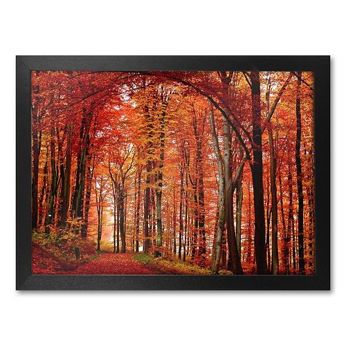 """The Red Way"" Framed Canvas Wall Art by Philippe Sainte-Laudy"