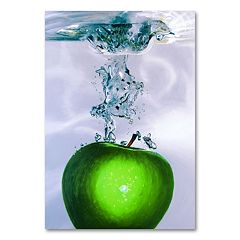 'Apple Splash II' Canvas Wall Art by Roderick Stevens