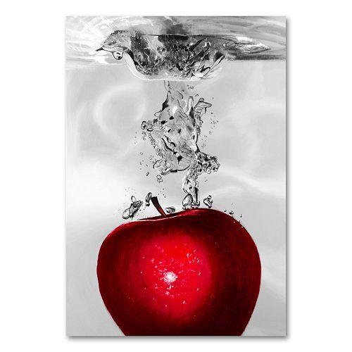 """Red Apple Splash"" Canvas Wall Art by Roderick Stevens"