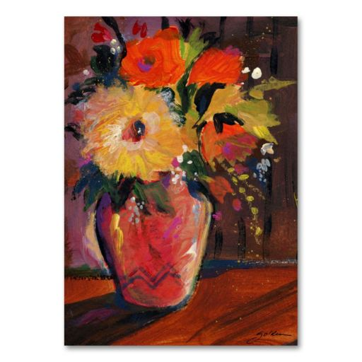 Orange Splash Bouquet 47 x 35 Canvas Wall Art by Sheila Golden