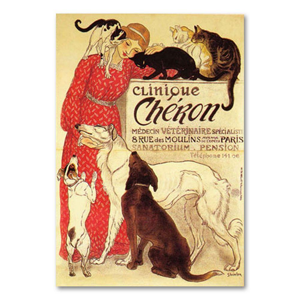 ''Clinique Cheron'' Canvas Wall Art by Theophile A. Steinlen