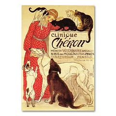 ''Clinique Cheron'' Canvas Wall Art by Theophile A. Steinlen