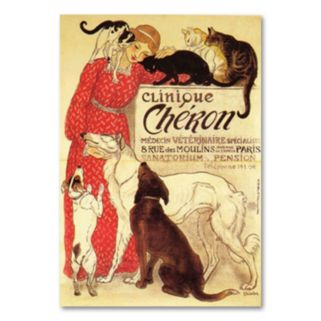 Clinique Cheron Canvas Wall Art by Theophile A. Steinlen