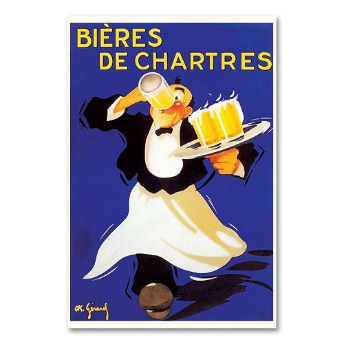 ''Bieres de Chartres'' Canvas Wall Art