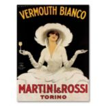 ''Vermouth Bianco Mini Rossi'' Canvas Wall Art by Marcello Dudovich
