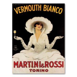 Vermouth Bianco Mini Rossi Canvas Wall Art by Marcello Dudovich