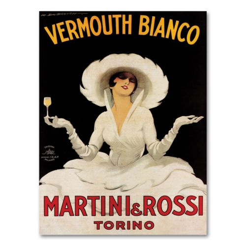 Vermouth Bianco Mini Rossi Canvas Wall Art by Marcello Dudovich