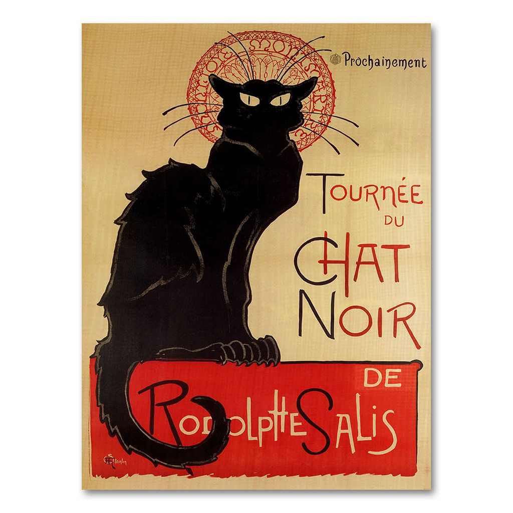 ''Tournee du Chat Noir'' Canvas Wall Art by Theophile A. Steinlen