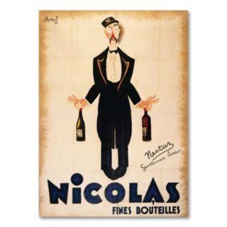 Nicolas Fines Bouteilles Canvas Wall Art
