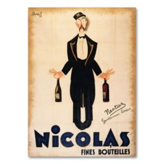Nicolas Fines Bouteilles Canvas Wall Art
