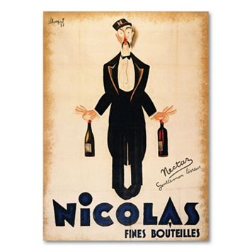 ''Nicolas Fines Bouteilles'' Canvas Wall Art