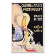 ''Casino de Paris Mistinguett'' Canvas Wall Art by Louis Gaudin