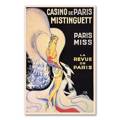''Casino de Paris Mistinguett'' Canvas Wall Art by Louis Gaudin